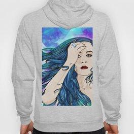 The blue hair girl Hoody