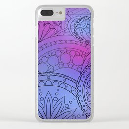 colorful pattern with mandalas Clear iPhone Case