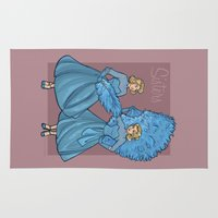 sisters Area & Throw Rugs featuring Sisters by Karen Hallion Illustrations