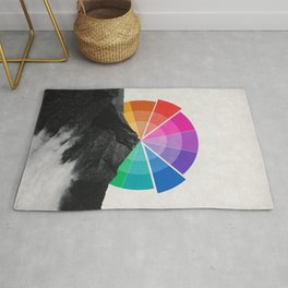 All the colors behind the mountain Rug