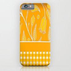 Autumn Satin Floral Check Slim Case iPhone 6