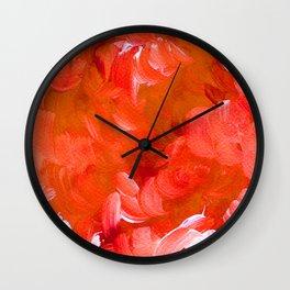 Bold Orange Brushstrokes Wall Clock