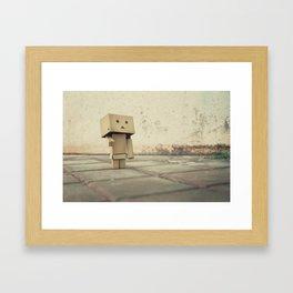 Danbo on the street Framed Art Print