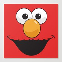 sesame street Canvas Prints featuring Sesame Street Elmo by Jconner