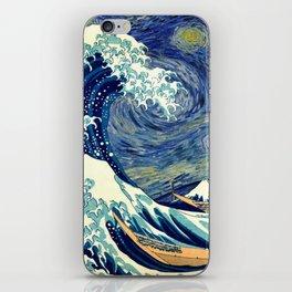 The Great Wave Off Kanagawa Starry Night iPhone Skin