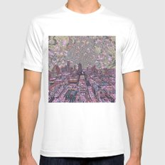 austin texas city skyline MEDIUM White Mens Fitted Tee