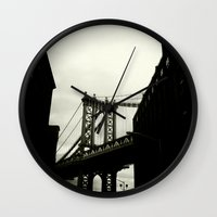 dumbo Wall Clocks featuring DUMBO by Camile O'Briant