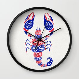 Patriotic Scorpion Wall Clock
