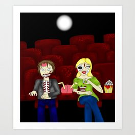 Horror Theatre Art Print