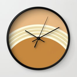 one day –earthen clay layers 2 Wall Clock