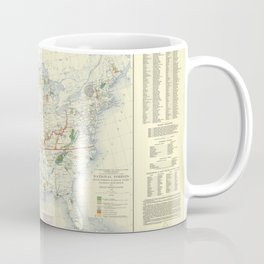 1936 US Forest Service National Park and Forest Map Coffee Mug