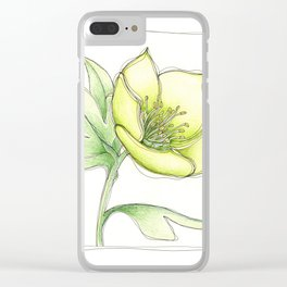 Green Hellebore Clear iPhone Case