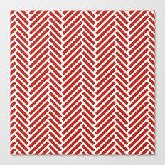Herringbone Candy Canvas Print