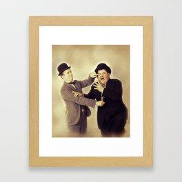 Laurel and Hardy, Hollywood Legends Framed Art Print