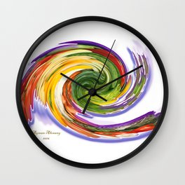 The whirl of life, W1.9A Wall Clock