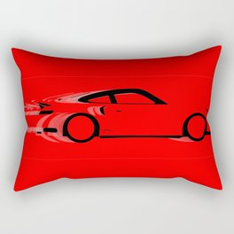Fast Red Car Rectangular Pillow