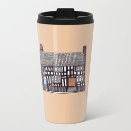 'Suffolk' House print Metal Travel Mug