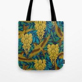 Vintage Art Deco Birds and Leaves  Tote Bag