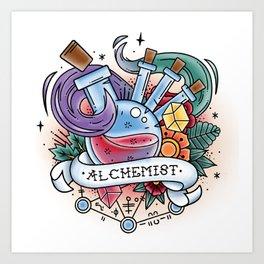Alchemist - Vintage D&D Tattoo Art Print