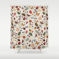 botanical Shower Curtains featuring Botanical by Kakel