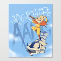 aang Canvas Prints featuring Avatar Aang by LeticiaFigueroa