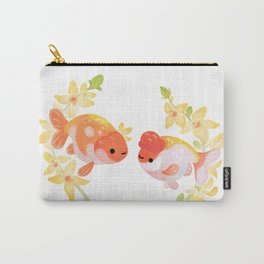 Ranchu and Forsythias Carry-All Pouch