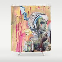blush Shower Curtains featuring Blush by Katy Hirschfeld