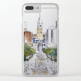 View of JFK BLVD, Philadelphia Clear iPhone Case