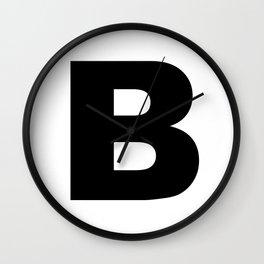'B' Wall Clock