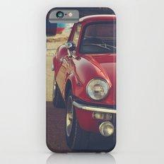 Fine art print, classic car, red, triumph, beach, italy, interior design, old car, still life, decor iPhone 6s Slim Case
