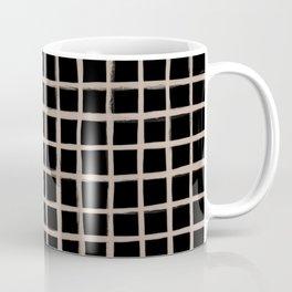 Strokes Grid - Nude on Black Coffee Mug