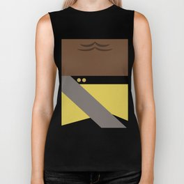 Worf - Minimalist Star Trek TNG The Next Generation - Enterprise 1701 D - startrek - Trektangles Biker Tank