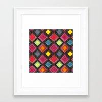 kilim Framed Art Prints featuring kilim bold by Sharon Turner