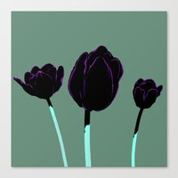 tulips Canvas Prints featuring Tulips by Ludovic Jacqz