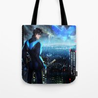 nightwing Tote Bags featuring Nightwing by Cielo+