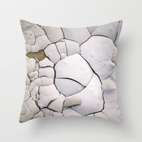 shell Throw Pillows featuring Shell by CrookedHeart