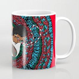 Fiesta Mexican Lady Dancer #5 - Star, half moon flowers and guiro Coffee Mug