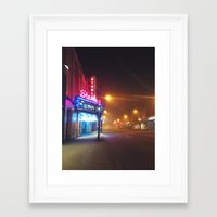 theatre Framed Art Prints featuring Stanley Theatre by Kyle Oxborough