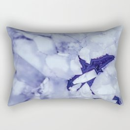Purple Snow Rectangular Pillow