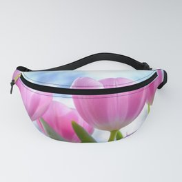 Bright Pink Tulips Fanny Pack