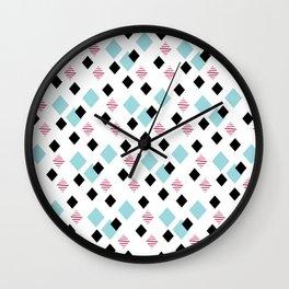 Jeweltoned Diamond Geometric Wall Clock