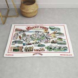 Rocky Point Amusement Park, Warwick, Rhode Island History Art Rug