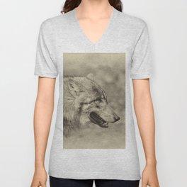 lonesome wolf Unisex V-Neck