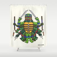 tmnt Shower Curtains featuring TMNT by Artifact Supply