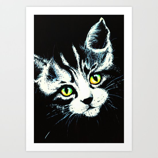 Kitten's Portrait Art Print