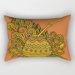 Yerba Mate In The Gourd Rectangular Pillow