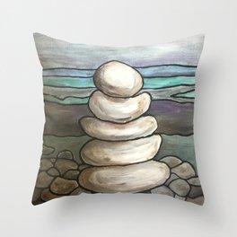 Rockpile Throw Pillow