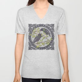 Celtic Starlings Unisex V-Neck