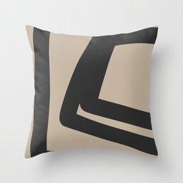 Neutral Abstract 4B Throw Pillow