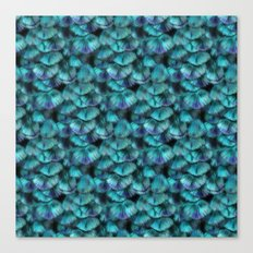 Isis Blue Feather Pattern Canvas Print